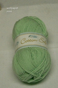 50 g Cotton Soft mint - hellgrün   Sonderangebot